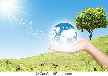 Clean Energy Concept