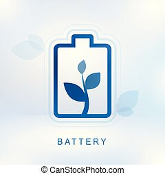 Clean energy concept with battery-2