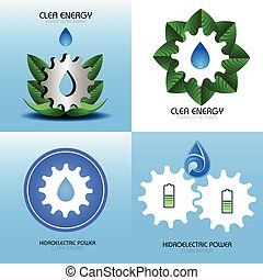 Clean energy illustration