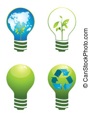 Clean energy - Vector illustration for sustainable energy...