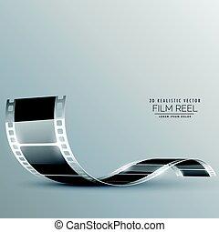clean film strip vector background