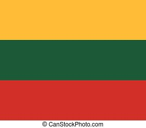 Clean flag of Lithuania, vector