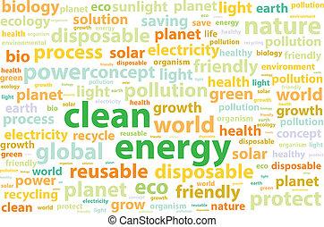 Clean Friendly Environment Energy Word Cloud Concept Vector...
