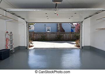 Clean garage - Interior of a clean garage in a house