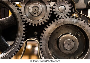 Clean gears and cogs