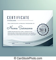 clean gray diploma certificate design template