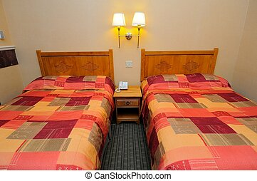 Clean hotel beds