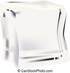 Clean ice cube - A clean ice cube for cooling food. Vector...