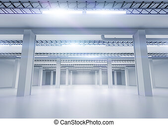 Clean Industrial Warehouse - A clean industrial warehouse ...