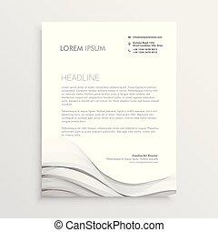 clean letterhead vector design template