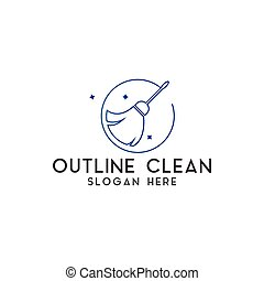 Clean logo design template vector isolated