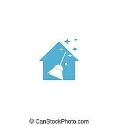 Clean logo template vector