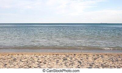 Clean Mediterranean beach in summer.