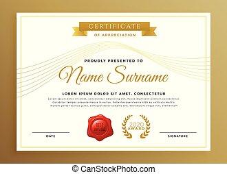 clean modern certificate vector design