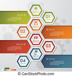 clean number banner. vector. - Design clean number banners ...