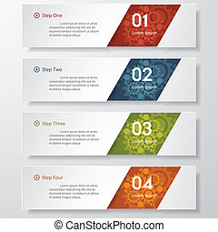 clean number banner. vector. - Design clean number banners...