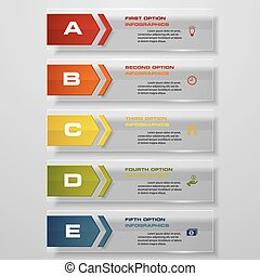 clean number banners template