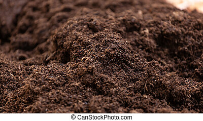 Clean potting soil for cultivation. - Clean soil for ...