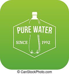 Clean pure water icon green vector