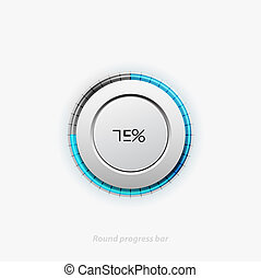 Clean round progress bar - Vector illustration of round...