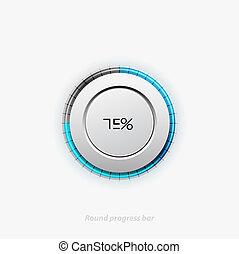 Clean round progress bar - Vector illustration of round ...