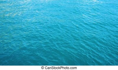 Clean sea water - Surface of clean turquious deep sea water...