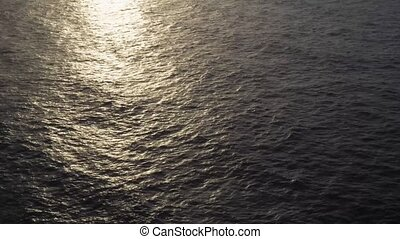 Clean sea water with sun path
