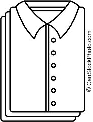 Clean shirts icon, outline style