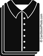 Clean shirts icon, simple style