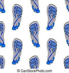 Clean Sport Shoe Imprints