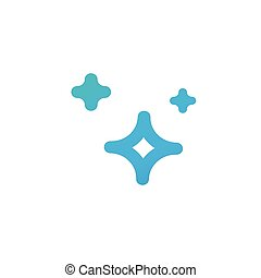 Clean star blue icon. Flat vector cartoon illustration. Objects isolated on a white background.