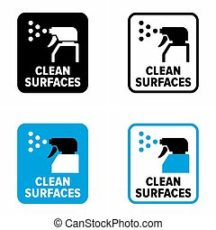 """Clean surfaces"" virus and bacteria disinfection, ..."