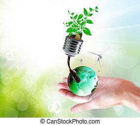 clean technologies energy nature concept