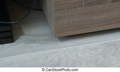 Clean the room with a vacuum cleaner - Clean the parquet in ...
