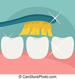 Clean tooth icon, flat style