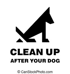 Clean up after your dog stop pooping silhouette