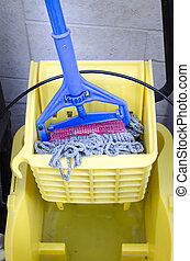 Clean up Mop and bucket