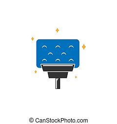 clean vector logo icon design template illustration
