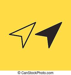 Clean vector modern set of arrow cursors symbol icons.