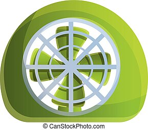 Clean ventilator icon, cartoon style