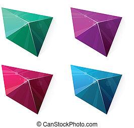 Clean vibrant pyramid.
