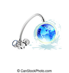Clean water concept.