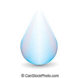 Clean water droplet, this make not a mesh . illustration