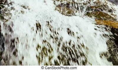 Clean water is flowing on a hillsid