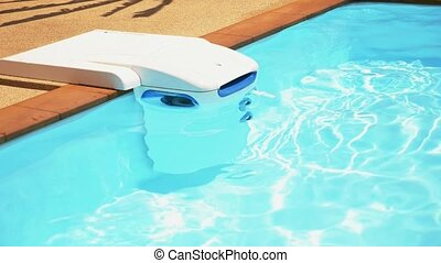 Clean Water Machine in Swimming Pool.