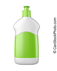 clean white plastic bottl with detergent