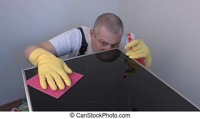 Cleaner polished surface of electric cooker