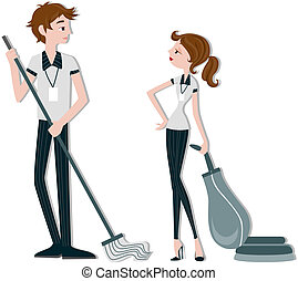 Cleaners with clipping path