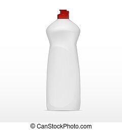 Cleaning Bottle Isolated On White Background
