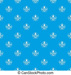 Cleaning bottle pattern seamless blue